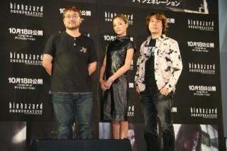 左:神谷監督 中:土屋アンナ 右:小林P