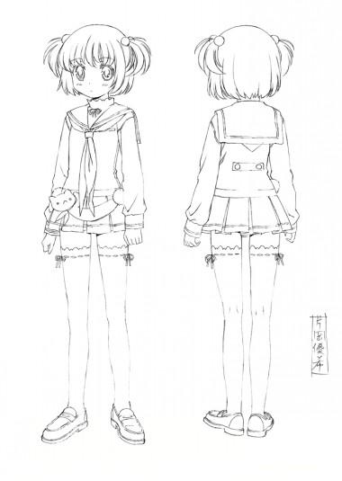 咲-Saki- 線画設定 片岡優希