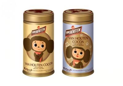 ンホーテン ピュア ココアの「チェブラーシカデザイン缶」