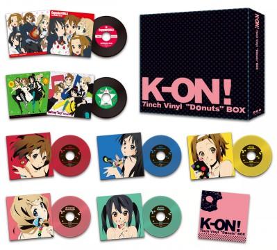 """けいおん! 「K-ON! 7inch Vinyl""""Donuts""""BOX」"""